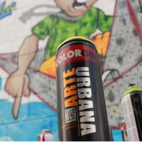 Spray Tinta Graffiti Arte Urbana Colorgin Azul Europeia