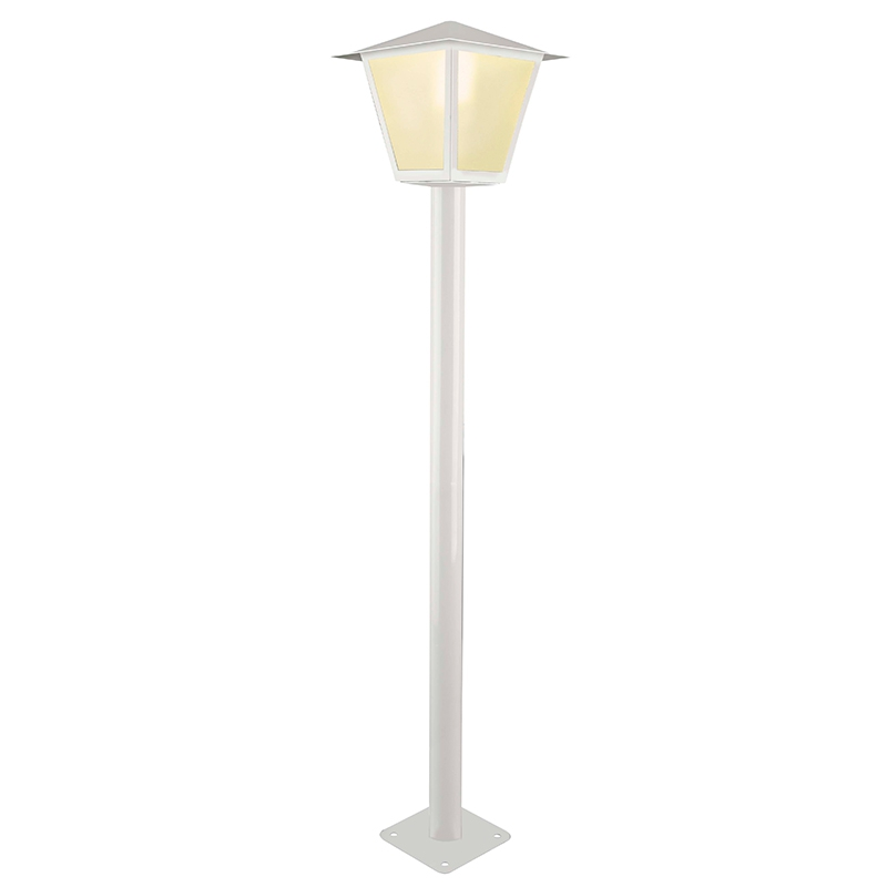 POSTE COLONIAL 1,2 MTS 4F 100W BRANCO BRONZEARTE